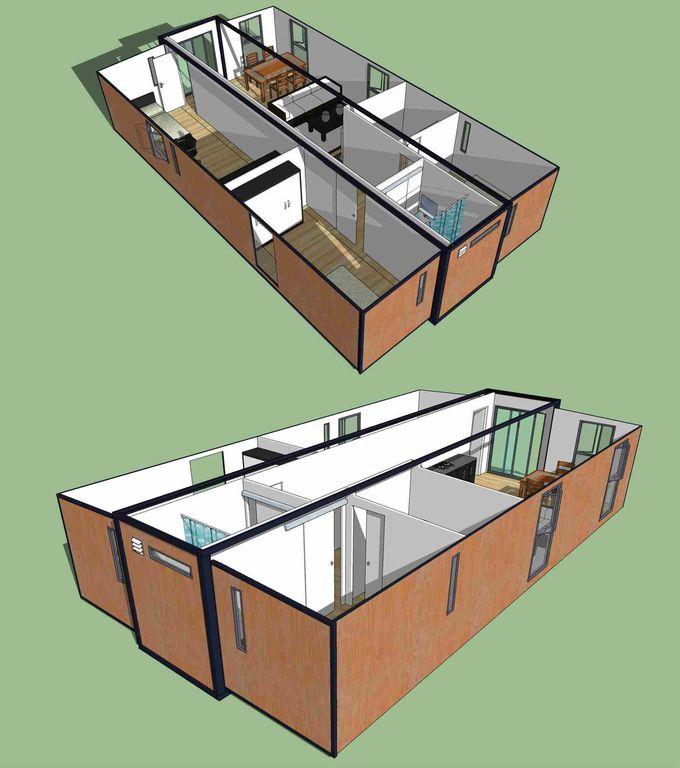 خانه قابل انعطاف پذیر قابل انعطاف / خانه های پیش ساخته ساخته ...